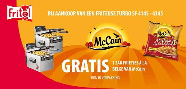 Gratis 1 zak frietjes à la Belge van McCain