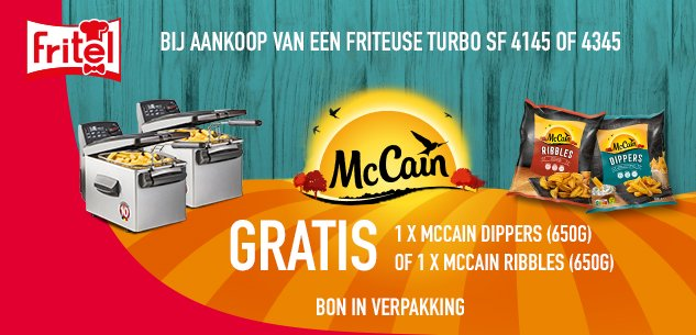 Gratis 1 zak Ribbels of Dippers van Mc Cain!