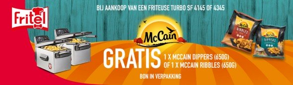 Gratis 1 zak Ribbles of Dippers 650 GR van Mc Cain
