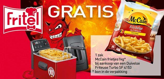 Gratis 1 zak McCain frietjes