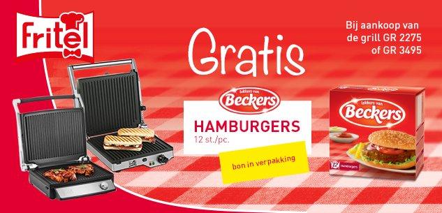 Gratis hamburgers van Beckers!